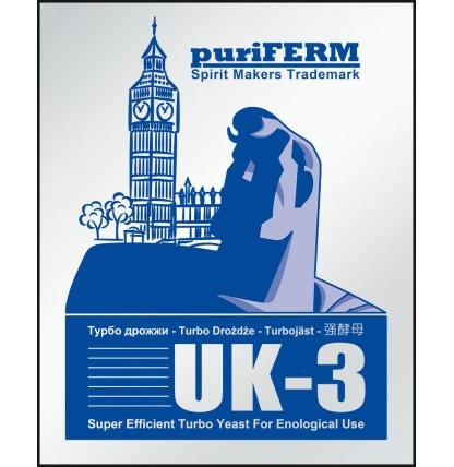 Турбо дрожжи Puriferm UK-3, 112 гр.
