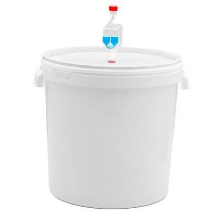 Емкость для брожения с гидрозатвором, 32 литра