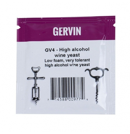 Винные дрожжи Gervin GV4 High Alcohol Wine, 5 гр.